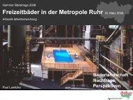 Freizeitbäder in der Metropole Ruhr 16. März 2006