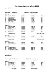 Vereinsmeisterschaften 2008