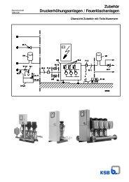 Zubehör Druckerhöhungsanlagen / Feuerlöschanlagen