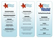 Angebote unserer Schwimmschule - Rhein-Main-Therme