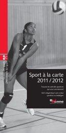 Sport à la carte 2011 / 2012 - Stadt Biel