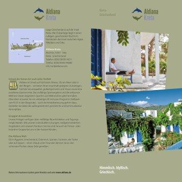 Clubfolder Kreta - Aldiana Gruppen & Incentives