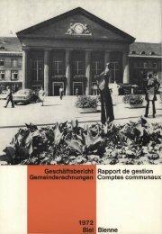 Geschäftsbericht / Rapport de gestion - Stadt Biel