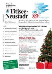 Amtsblatt Nr. 26 vom 20.12.2012 - Titisee-Neustadt