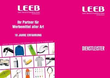 DIenStLeISter - Werbeartikel Leeb
