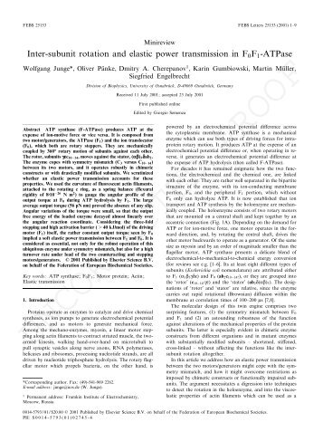 Inter-subunit rotation and elastic power transmission in F0F1-ATPase
