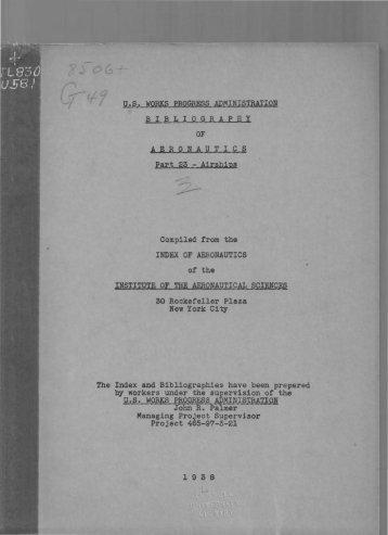 of index of aeronautics institute of the aeronautical scienc - AIAA Info