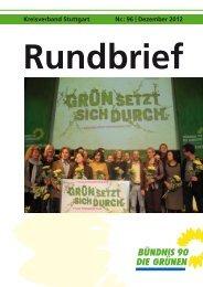 Kreisverband stuttgart nr.: 96 | Dezember 2012 - Grüne Stuttgart