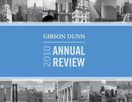 Gibson Dunn 2010 Annual Review - Gibson, Dunn & Crutcher LLP