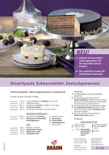 Dessertpaste Schwarzwälder Zwetschgenwasser - agrano-export