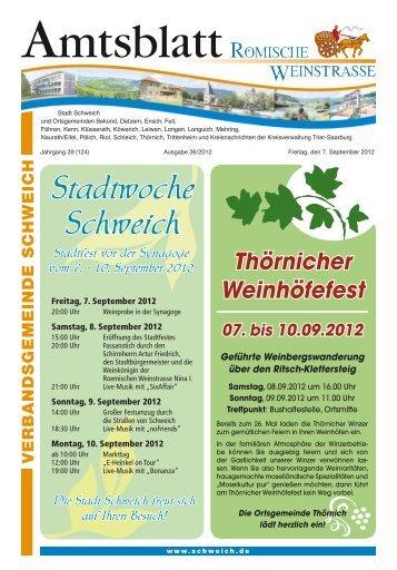 Stadtwoche Schweich - Verbandsgemeinde Schweich