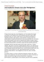 Pressebericht Schwarzwälder Bote 17.12.2010 - der AIDS-Hilfe ...
