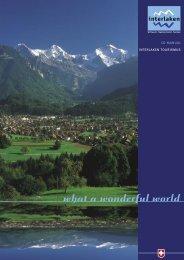 CD mANUAL INTERLAKEN TOURISmUS - Design Tagebuch