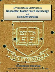 Noncontact Atomic Force Microscopy - Yale School of Engineering ...