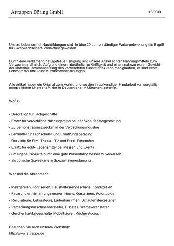 Bäckerei & Konditorei - Attrappen Döring GmbH