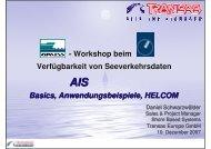 AIS Basics, Anwendungsbeispiele, HELCOM