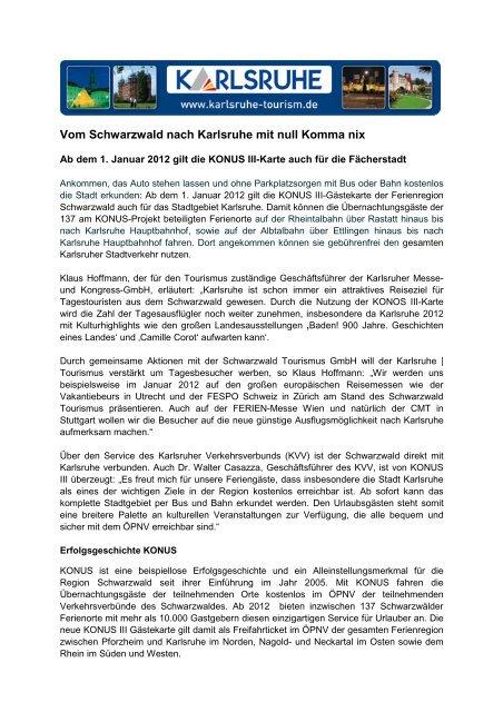 Pressemitteilung - Karlsruher Messe- und Kongress-GmbH