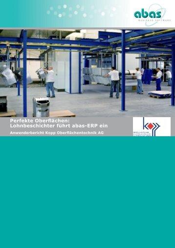 Lohnbeschichter führt abas-ERP ein - ABAS Software AG