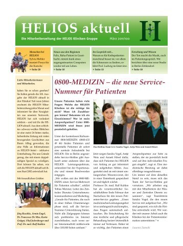 0800-MEDIZIN – die neue Service- Nummer für Patienten - HELIOS ...
