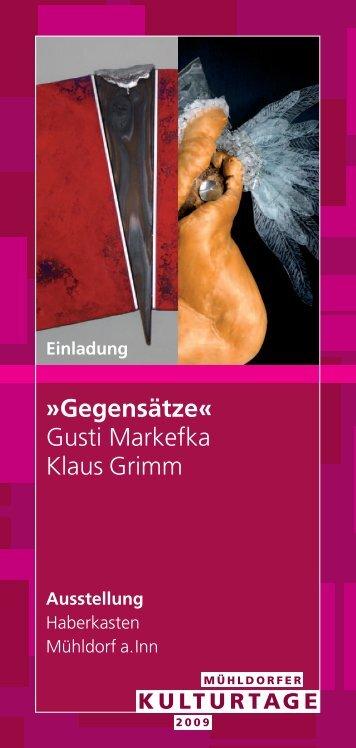 Gegensätze« Gusti Markefka Klaus Grimm - glaskunst.markefka