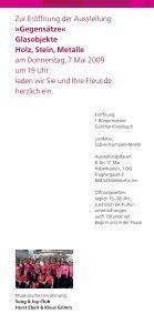 Gegensätze« Gusti Markefka Klaus Grimm - glaskunst.markefka - Seite 3
