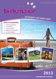 Urlaubsreisen - Birkmaier Reisen