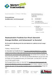 Echt Schwarzwald zertifiziert den Sunnehof - Naturpark ...