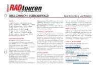 Radreise Schwarzwald - Radtouren Magazin