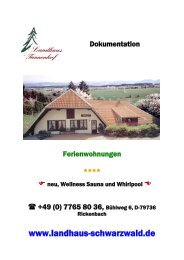 Dokumentation mit Preisliste Tannenhof (PDF) - Landhaus Tannenhof