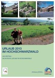 Urlaubsangebote Haus Breitnau 2013 - Luwoge