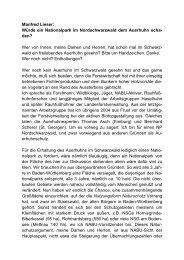 Manfred Lieser Auerhuhn - Pro Nationalpark Schwarzwald