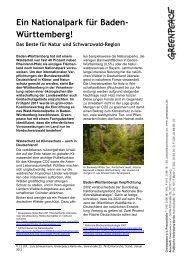 FS Nationalpark Schwarzwald - Greenpeace-Gruppe Karlsruhe