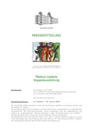 PRESSEMITTEILUNG Markus Lüpertz ... - Galerie Noah