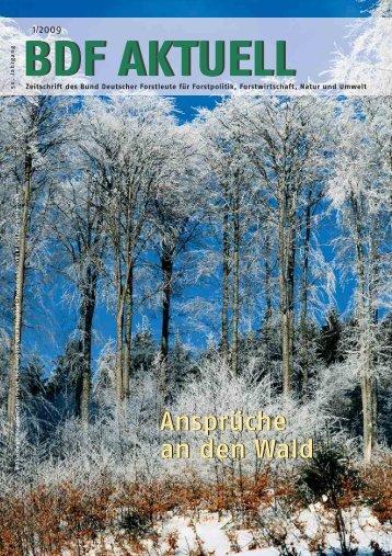 Ausgabe 01-02/09 - Bund Deutscher Forstleute (BDF)