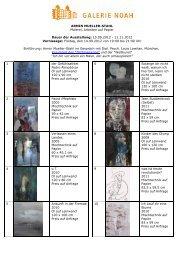 ARMIN MUELLER-STAHL Malerei, Arbeiten auf ... - Galerie Noah