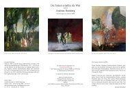 Die Farben schaffen die Welt Andreas Homberg - Galerie Rose