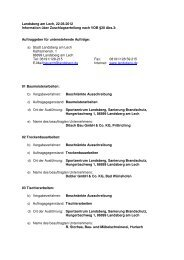 2012-06-22 SPZ SAN Auftragsvergaben 1 - Stadt Landsberg am Lech
