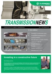 Investing in a constructive future - Zuidberg Transmissions