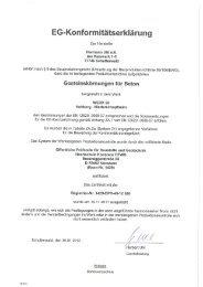 Konformitätserklärung, Sortenverzeichnis EN 12620 Werk ...