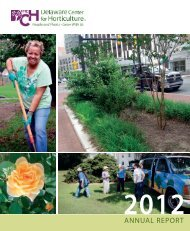 ANNUAL REPORT - The Delaware Center for Horticulture