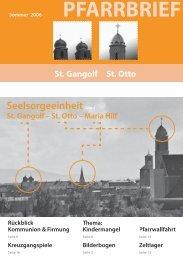 PFARRBRIEF - St. Gangolf