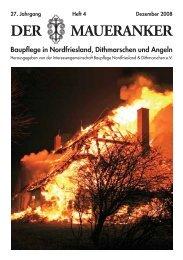 DER MAUERANKER - IG Baupflege Nordfriesland