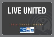 2 0 1 0 A N N U A L R E P O R T - United Way of York County