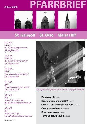 Pfarrbrief Ostern 2008 - St. Gangolf