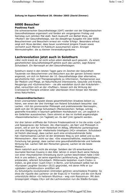 6000 Besucher Lachrevolution jetzt auch in Solothurn