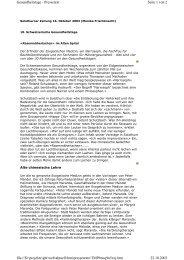 Seite 1 von 2 Gesundheitstage - Pressetext 22.10.2003 file://D ...