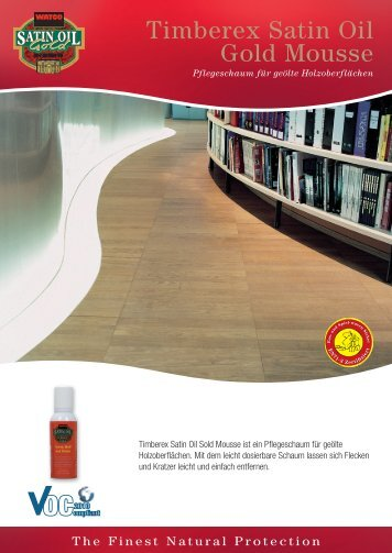 Timberex Satin Oil Gold Mousse