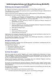 Gefährdungsbeurteilung nach Biostoffverordnung (BioStoffV)