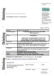 Einladung / Information zur Veranstaltung - VDSI
