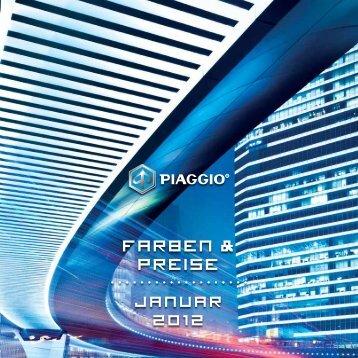 Piaggio Preisliste 2012 - Alfred Lentes GmbH